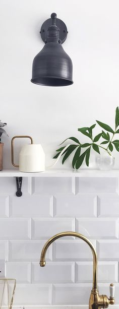 Find the perfect way to light up your home with our range of industrial lights 💡 📸 Image Credit: Robyn Industrial Style Lighting, Retro Lighting, Lighting Sale, Wall Sconce Lighting, Wall Sconces, Vintage Wall Lights, Black And White Interior, Wall Mounted Light, Lighting Accessories