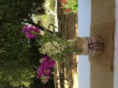 Mason Jar Flower Vase for Bridal Shower