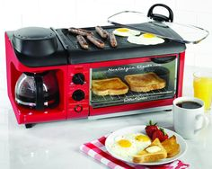 Nostalgia Electrics BSET300RETRORED Retro Series 3-in-1 Breakfast Station: $62.32 & FREE Shipping.