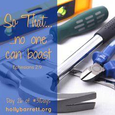 Day 26: No one can boast | Holly Barrett