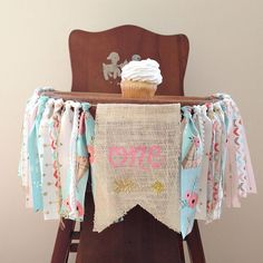 Girls First Birthday Highchair Banner / Boho Floral / Wild One Theme / Tribal / Arrows / Party Decor / Cake Smash / Photo Shoot Prop