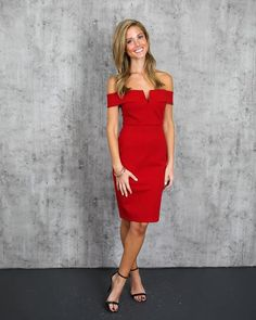 Sophisticated Lady Dress - Red – VICI