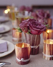 Cornhusk Votives | Step-by-Step | DIY Craft How To's and Instructions| Martha Stewart