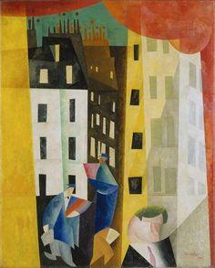 "Lyonel Feininger: ""Architecture II (The Man from Potin)"" (1921)"