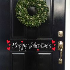 Happy Valentines door with hearts lettering 5 by allysatticcrafts, $10.00 on Etsy.com.