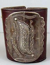 Vintage NAVAJO Silver Leather Child's KETOH Bow Guard Bracelet