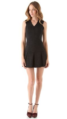 Robert Rodriguez Brocade Flare Dress - perfect for broad shouldered girls like me!