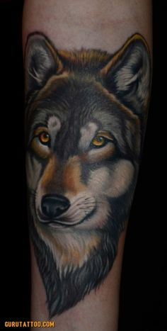 Wolf tattoo by Champion Grubbs - Guru Tattoo