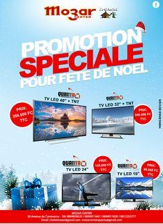Mozar Centre - Promotion Spéciale de Télévision Quanta LED avec TNT Rd Congo, Promotion, Tv, Centre, Christmas Parties, Television Set, Television