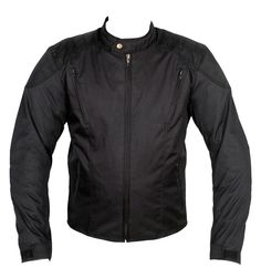 Decent style of motorcycle textile Cordura black jacket is admirable design with all essential features of motorbike road safety, weather and temperature conditions, high quality fabric and stitching art for a fashionable look. The jacket is perfect for on road bike riding, adventure riding while wearing light and enhanced protection.... Biker Pants, Moto Jacket, Traditional Jacket, Riding Jacket, Stylish Mens Fashion, Black And Grey, Black Leather, Textiles, Motorcycle Jackets