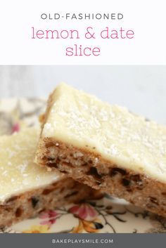 Lemon & Date Slice I cup plain flour 1 tsp baking powder 1 cup coconut 1 cup chopped dates 1/2 cup caster sugar 125 gm butter 1 tbs golden syrup Icing: 2 cups pure icing sugar 20 g butter softened 2 1/2 tablespoons lemon juice Extra coconut for sprinkling