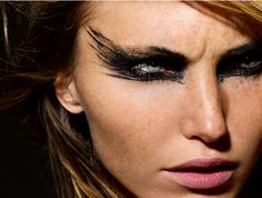 Clean up the brow curve and this could be fierce for a night at on the dance floor.