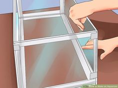 How to Make an Aquarium (with Pictures) - wikiHow Aquarium Diy, Aquarium Setup, Aquarium Filter, Aquarium Design, Saltwater Aquarium, Aquarium Fish Tank, Freshwater Aquarium, Fish Tanks, Turtle Aquarium