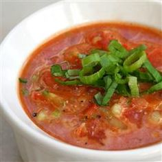 Chef John's Gazpacho. This looks amazing & seems very like a recipe I lost  a long time ago.