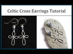 How to Make Celtic Cross Earrings : Easy Wire Wrapped Jewelry Tutorial - YouTube