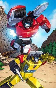 Autobots Sunstreaker and Sideswipe