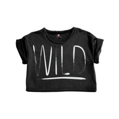 Wild Crop Top ($32) ❤ liked on Polyvore featuring tops, shirts, crop tops, t-shirts, crop shirts, print shirts, print tops, crew neck shirt and pattern tops