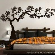 Oriental Bonsai Tree wall decals. $89  decalmywall.com