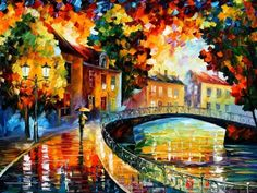 Old Bridge - Leonid Afremov