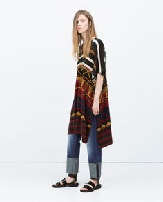 Image 1 of LONG PONCHO from Zara