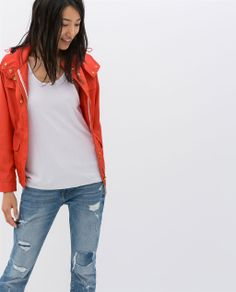 Image 2 of JACKET WITH POCKETS from Zara