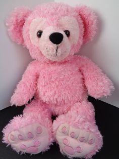 "Walt Disney World 2003 PRE DUFFY Hidden Mickey DISNEY Bear Pink 17"" HTF Rare"