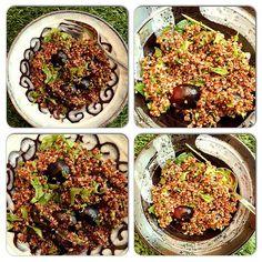 מנדרינה חמוץ מתוק | סלט קינואה וענבים אדומים