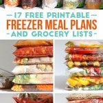 Freezer Crockpot complete printable lists-grocery lists, instructions, etc. BEST list found yet.