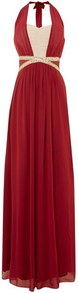 Halter Sequin Cut Out Maxi Dress - Lyst