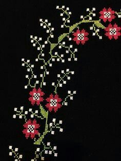 This Pin was discovered by BEY Cross Stitch Books, Simple Cross Stitch, Beaded Cross Stitch, Cross Stitch Borders, Cross Stitch Flowers, Cross Stitch Designs, Cross Stitch Embroidery, Cross Stitch Patterns, Hand Embroidery Patterns
