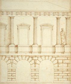 Andrea Palladio, Design for Palazzo Civena, Vincenza, ca. 1539, RIBA Library Books & Periodicals.