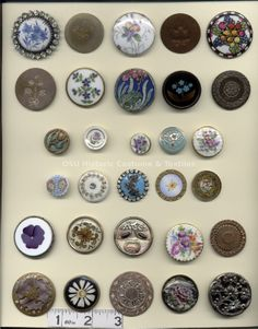 vintage flower buttons
