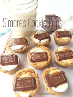 S'mores Cookie Cups- the most delicious, no-mess way to enjoy a s'more! www.togetherasfamily.com