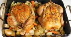 Roast two chickens at once, use extra chicken for freezer meals or sandwiches, salads, casseroles. . . twice the meals, minimal extra effort!