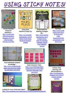 Information on Using Sticky Notes In the Classroom! (In-service materials are available for free in this blog post.) by wtaylor3