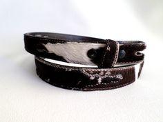 Size 32 81 cm Leather Belt Strap, Brown and White Hair on Hide w Billets, Cowboy Belt, Southwestern Country Western Wear Boho, ID 492984022 by LaBelleBelts on Etsy