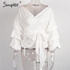 Sexy Ruffled Off Shoulder Blouse - Tops - Look Love Lust