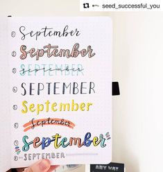 Headers are an understated, yet huge part of bullet journaling. Check out these amazing bullet journal header ideas organized by month. Bullet Journal September, Bullet Journal Headers, Bullet Journal Banner, Bullet Journal Writing, Bullet Journal 2020, Bullet Journal Printables, Bullet Journal Aesthetic, Bullet Journal Inspo, Bullet Journal Layout