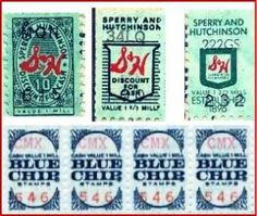 Blue Chip and S&H Green Stamps - We had a huge drawer full of these, just waiting to be licked.  Yuck!