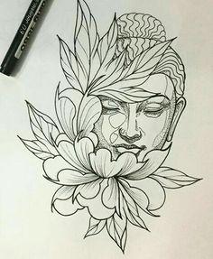 "Ergebnis für Praying Buddha Tattoo Bild Ergebnis für Praying Buddha Tattoo ""Convoque seu Buda o clima ta tenso""✍🍂 Buddha Drawing, Buddha Painting, Buddha Art, Lotus Drawing, Buddha Head, Tattoo Sketches, Tattoo Drawings, Drawing Sketches, Art Drawings"