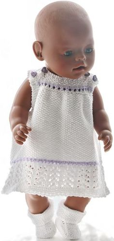 Doll clothes knit baby born - Doll clothes knit baby born Informations About Puppenkleidung stricken baby born Pin You can easily - Knitting Dolls Clothes, Crochet Barbie Clothes, Ag Doll Clothes, Barbie Clothes Patterns, Baby Dress Patterns, Baby Born Kleidung, Baby Born Clothes, Baby Knitting, Baby Dolls