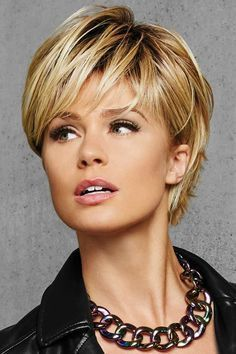 Textured Fringe Bob by Hairdo Wigs - Heat Friendly Synthetic Wig With razor cut layers, a side part, and a sweeping side fringe the Textured Fringe Bob is an Short Hair With Layers, Short Hair Cuts For Women, Trending Hairstyles, Short Bob Hairstyles, Hot Haircuts, Haircut Short, Hairstyles For Long Faces, Layered Hairstyles, Natural Hairstyles