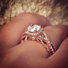 Verragio Insignia Rose gold engagement ring