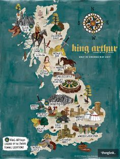 La Grande-Bretagne du Roi Arthur : carte interactive - Mode Tutorial and Ideas King Arthur Legend, Legend Of King, King Arthur History, Map Of Britain, Visit Britain, Snowdonia, Rei Arthur, England And Scotland, Us Map
