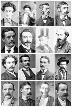 Victorian men`s hairstyles & facial hair for the men.