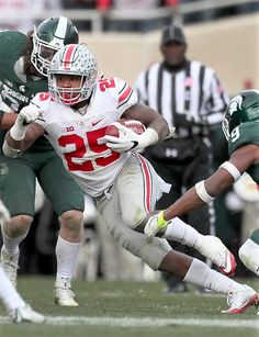 Ohio State Buckeyes running back Mike Weber (25)
