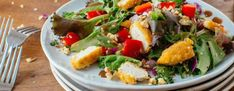 "In our article, we wanted to share with you some amazing and delicious chicken salad recipes. If you wonder the real answer of ""how to make chicken salad Greek Salad Recipes, Chicken Salad Recipes, How To Cook Quinoa, How To Cook Chicken, Breaded Chicken, Halloumi, Salad Ingredients, Summer Salads, Main Dishes"