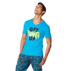 Break it free and bust a move in the all-new Break It Free Zumba Tee. Stay dry and fly while you shake and shimmy all class long!