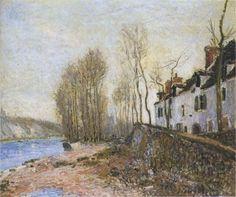 Saint Mammes in Winter by @artistsisley #impressionism