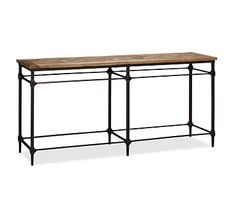Parquet Reclaimed Wood Console Table #potterybarn